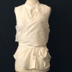 NWT Rachel Roy white blouse,vest attached wrap # 6